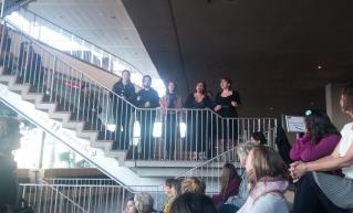 muziekgebouw on the stairs